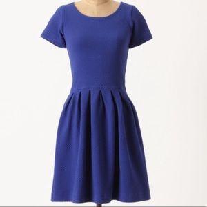 Anthropologie Ganni Royal Blue Basketweave Dress